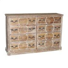 Carved Reclaimed Pine Dresser