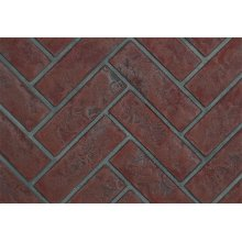Old Town Red Herringbone Panels