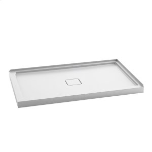 "Rectangular acrylic shower base 60"" x 36"" - Centered drain Product Image"
