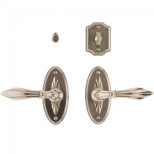 """Bordeaux Privacy Set - 2 1/2"""" x 5 1/2"""" Silicon Bronze Brushed"""