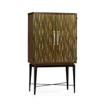 Textured Chestnut Drinks Cabinet