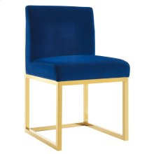 Haute Navy Velvet Chair