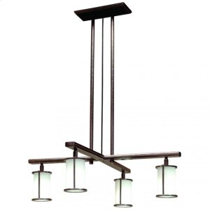 Cross Arm Chandelier - Round Glass - C450 Silicon Bronze Brushed Product Image