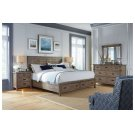 Panel King Bed - Complete W/ Storage Footboard Product Image