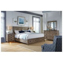 Panel King Bed - Complete W/ Storage Footboard