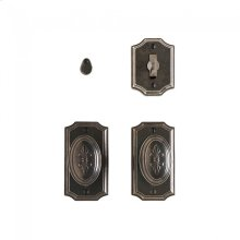 """Bordeaux Privacy Set - 2 1/2"""" x 4 1/2"""" Silicon Bronze Brushed"""