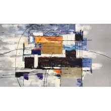 "32"" x 56"" Abstract Oil Painting Model No.6282"