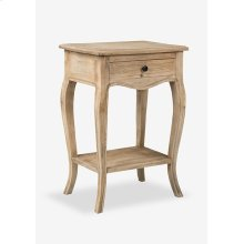 Promenade Side Table with Drawer and Shelf (17.75X13X25.5)