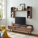 Omnistand 2 Piece Entertainment Center in Walnut Gray Product Image