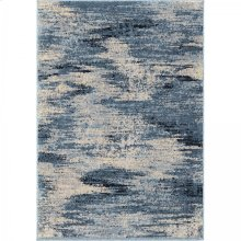 Spartan Contemporary 8x10 Area Rug in Cream/Blue
