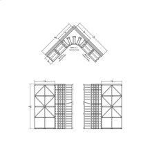 Apex 6' Cedar Wine Rack Kit (B/D-6.1, CRV-6.1, B/D-6.1) - READY TO SHIP