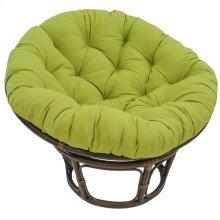Bali 42-inch Indoor Fabric Rattan Papasan Chair - Walnut/Mojito Lime