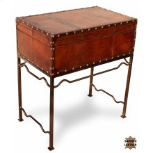Studded Leather Box On Stand