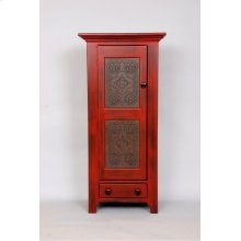"#217 Punch Tin Cupboard 23""wx14""dx49""h"