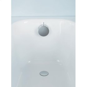 """1 1/2"""" pop-up waste with inlet through overflow for large bath tubs - Matt black"""