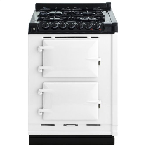 """AGA Module 24"""" Electric/Natural Gas White with Stainless Steel trim"""