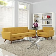 Engage Armchair and Sofa Set of 2 in Citrus