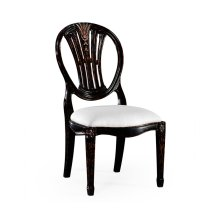 Hepplewhite wheatsheaf side chair (Black) - COM