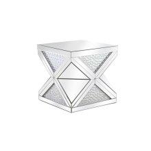 23 inch Crystal End Table Clear Royal Cut Crystal