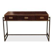 Old Brown Leather Desk