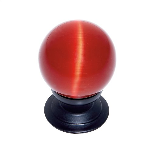 Oil Rubbed Bronze 30 mm Red Cat's Eye Knob