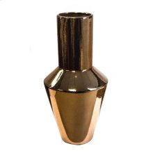 Sleek Copper Vase 15.75""