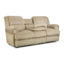 Evans Double Reclining Sofa with Fold-Down Tray Table