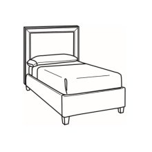 Twin Bed with Short Headboard