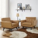 Engage Leather Sofa Set in Tan Product Image