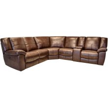 Power Reclining Sectional in Montgomery-Brown
