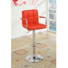 F1558 / Cat.19.p65- ADJUSTABLE BARSTOOL RED