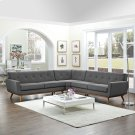 Engage L-Shaped Sectional Sofa in Gray Product Image