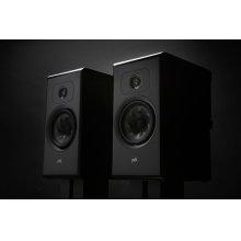 Legend Series Large Premium Bookshelf Speaker in Black Ash