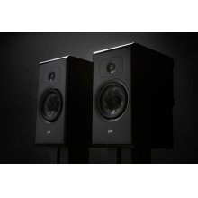 Legend Series Large Premium Bookshelf Speaker in Black Ash