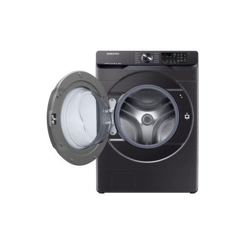 5.0 cu. ft. Smart Front Load Washer with Super Speed in Black Stainless Steel
