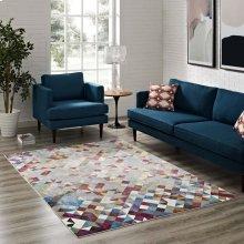 Lavendula Triangle Mosaic 8x10 Area Rug in Multicolored