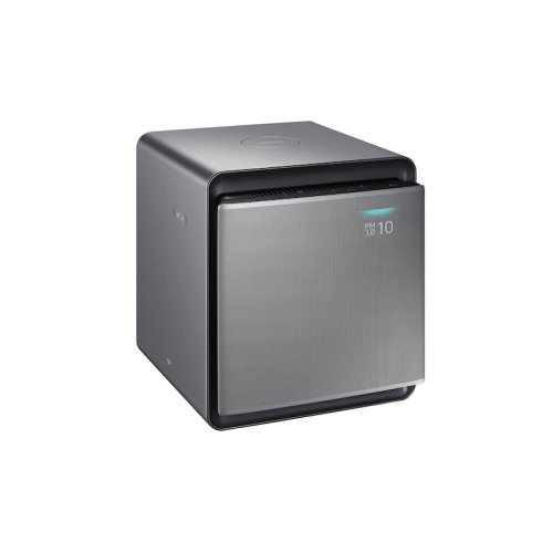Cube Air Purifier with Wind-Free Air Purification in Honed Silver