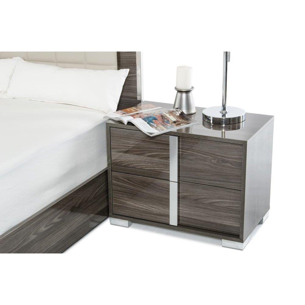 Modrest San Marino Modern Grey Nightstand