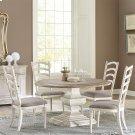 Elizabeth - Upholstered Ladderback Side Chair - Smokey White Finish Product Image