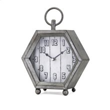 Hawkins Galvanized Clock