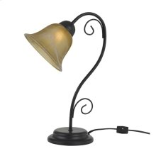 40W Cuneo Metal Accent Lamp With Glass Shade