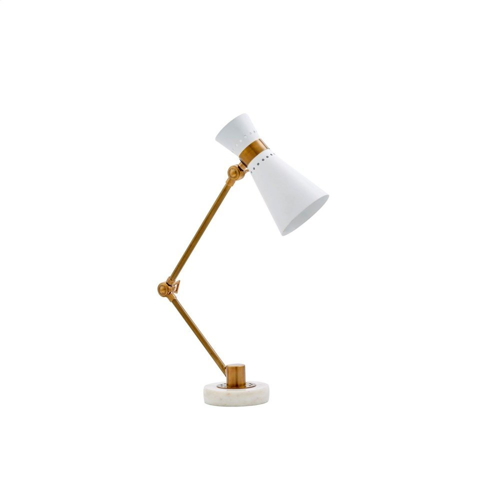 Clipper Table Lamp, White