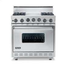 "Cobalt Blue 36"" Open Burner Self-Cleaning Range - VGSC (36"" wide range with four burners, 12"" wide char-grill, single oven)"