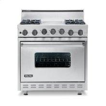 "Iridescent Blue 36"" Open Burner Self-Cleaning Range - VGSC (36"" wide range with six burners, single oven)"