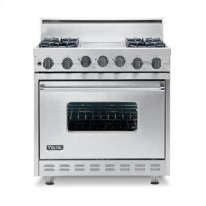 "Black 36"" Open Burner Self-Cleaning Range - VGSC (36"" wide range with six burners, single oven)"