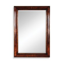 Crotch Mahogany Cushion Framed Mirror