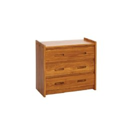 Heartland 3 Drawer Chest with options: Honey Pine