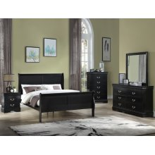 Louis Philip Night Stand Black