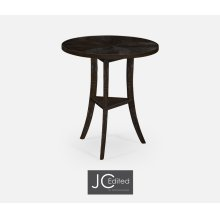 Dark Ale Country Style Round Lamp Table