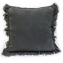 Linen Decorative Pillow W/ Ruffle